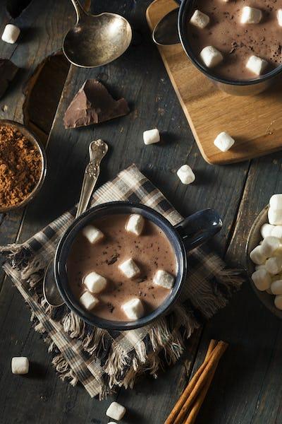 Homemade Dark Hot Chocolate