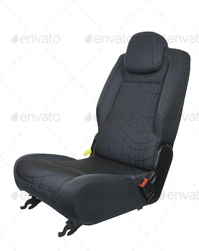 Car seat isolated on white background - three quart front view