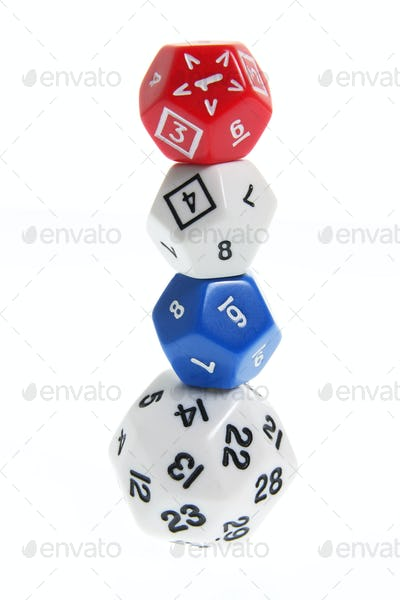 Stack of Number Dice