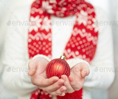 Red decorative toy ball