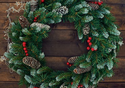 Conifer wreath