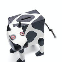 Wooden Cow Bank