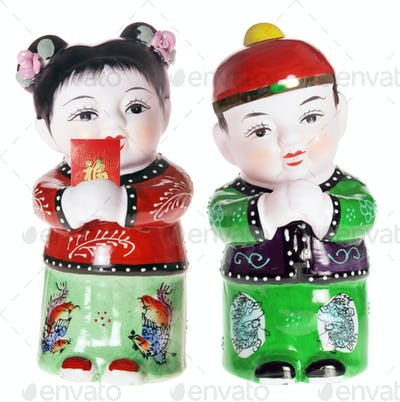 Chinese Boy and Girl Figurines