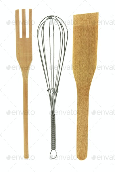 Egg Whisk and Salad Servers