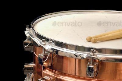copper snare drum