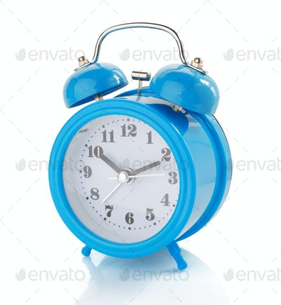 alarm clock watch on white background