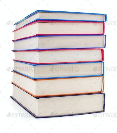 pile of books on white