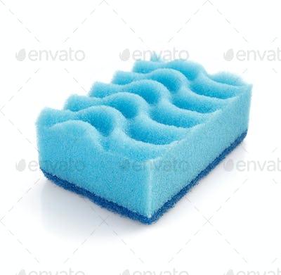 cleaning sponge on white