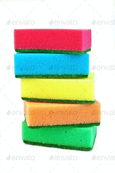 A stack of sponges