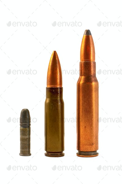Ammunition for the automatic weapons and small-bore rifle