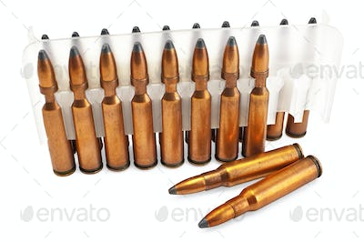 Ammunition for the automatic weapons in a package