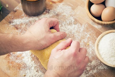 hands on the dough