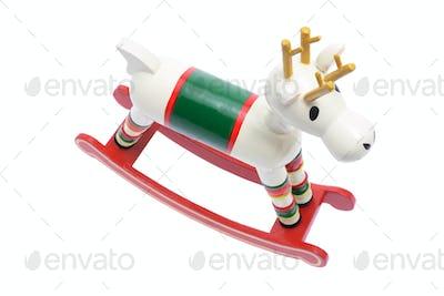 Miniature Wooden Reindeer