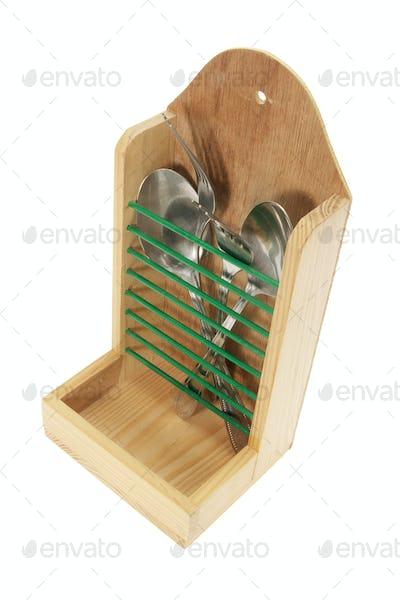 Cutlery in  Utensil Holder