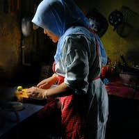 Malaysian Lady Prepare Food in the Kitchen