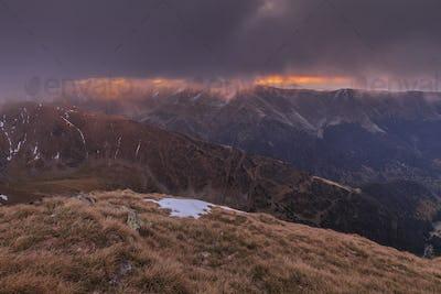 Sunrise in Fagaras Mountains