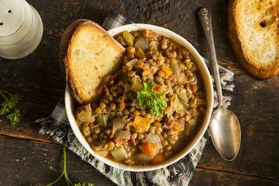 Homemade Brown Lentil Soup