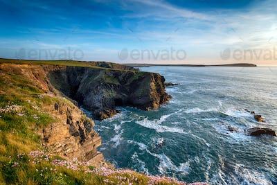 Steep Cornish Cliffs