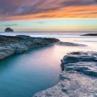 Sunset at Trebarwith Beach