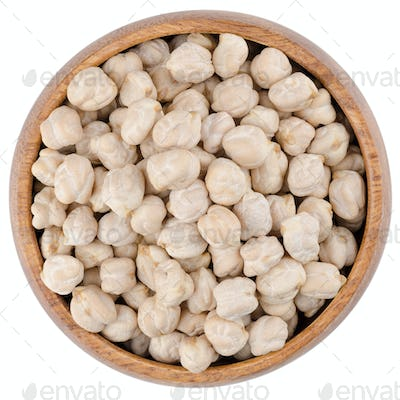 White Chickpeas in a Bowl