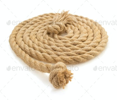 ship rope on white