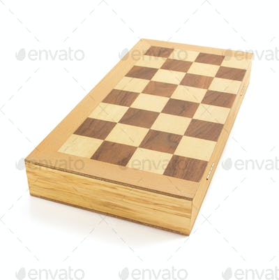 chess board on white