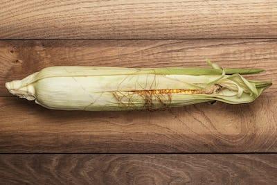 Corn Cob On The Table
