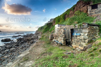 Fishing Huts at Priest's Cove
