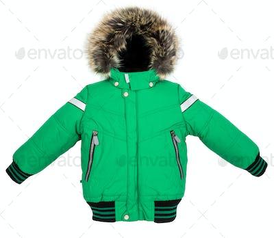 Warm jacket isolated