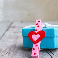 Red heart and gift