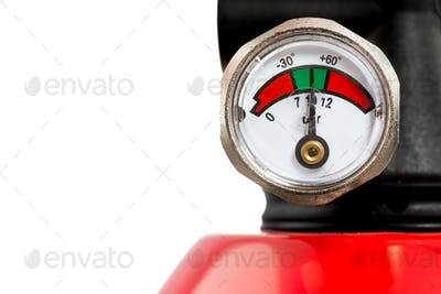 Manometer of a Fire Extinguisher