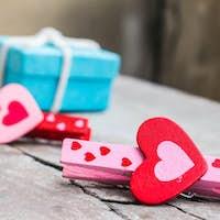Red heart of loving