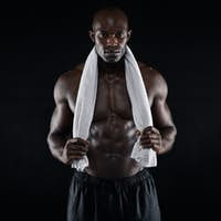 Fit young african man after workout