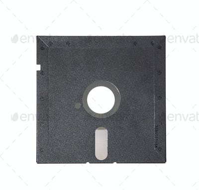 Old diskette 5-25 inches on white background