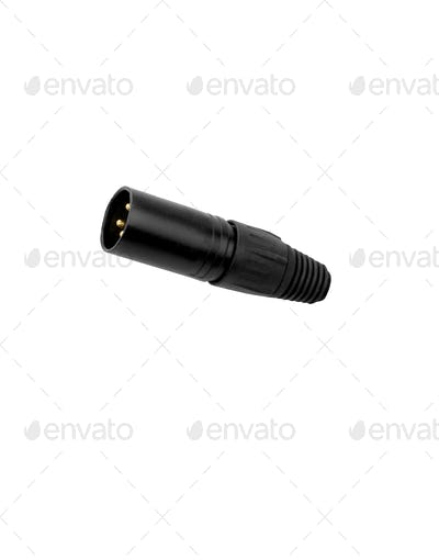 Wire plug isolated on white