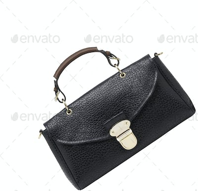 leather bag isolated against