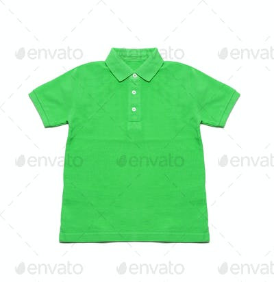 Polo Shirt green isolated