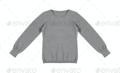 gray woolen sweater