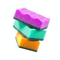 Sponge dish isolated on white