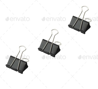 three office paper clips
