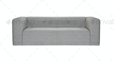 grey modern sofa isolated