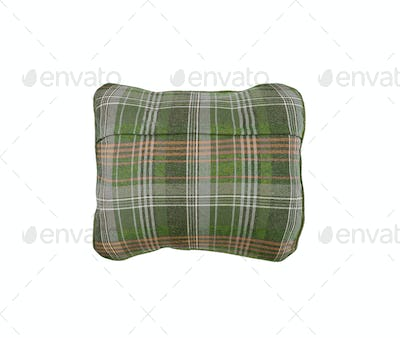 plaid pillow isolated