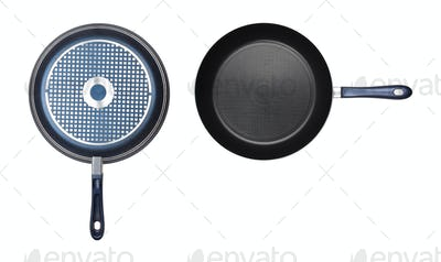two frying pan isolated
