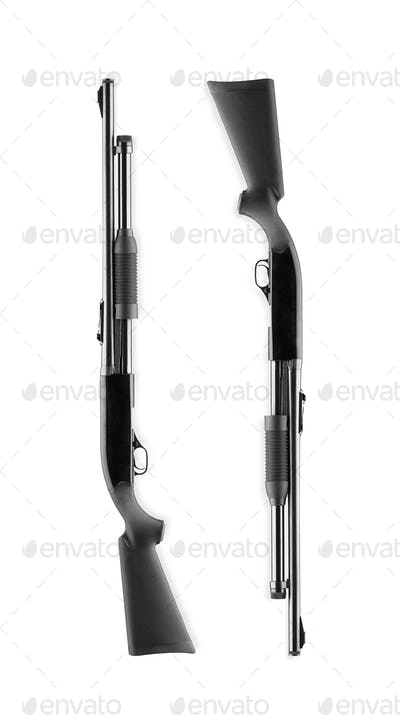 rifles isolated on white background