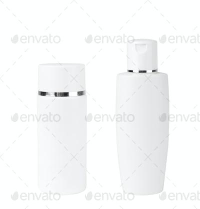 Blank Two Plastic Bottle On White Background
