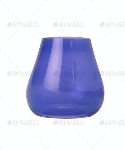 Blue vase isolated on white background