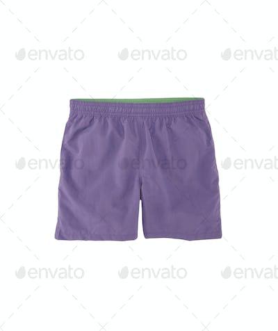 training shorts isolated on white background