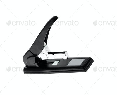 Black professional stapler isolated
