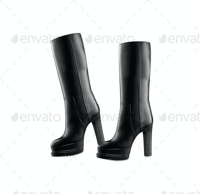 Female high boots isolated