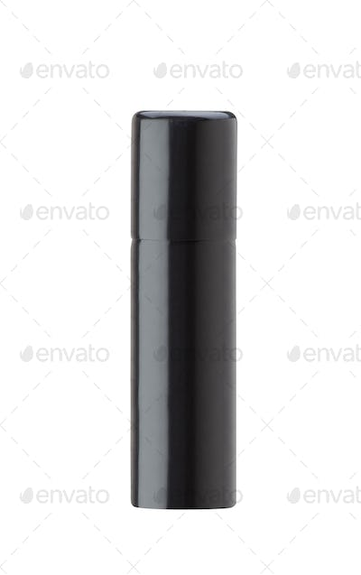 Black bottle deodorant isolated